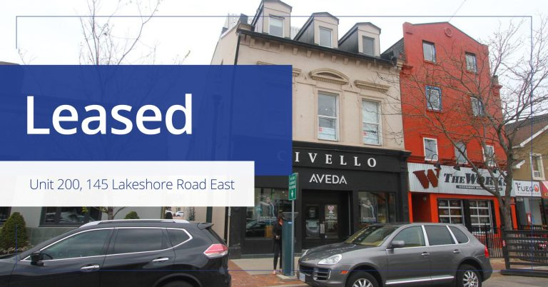 Unit 200 - 145 Lakeshore Road - Leased - Colliers