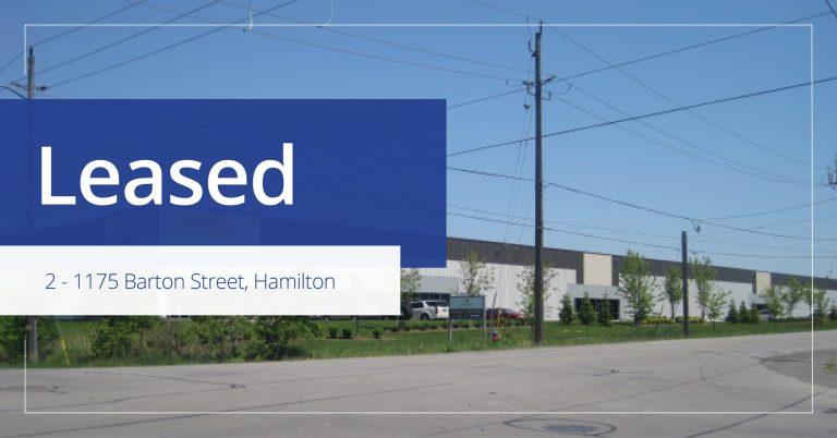 2, 1175 Barton St, Hamilton - Leased