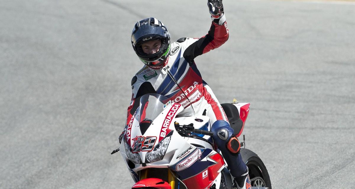 Hayden y Van der Mark completan el fin de semana Laguna Seca con quinto y séptimo lugar