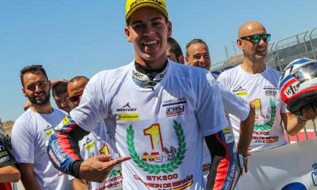 Augusto Fernández se proclama campeón de España de SuperStock600 en Motorland