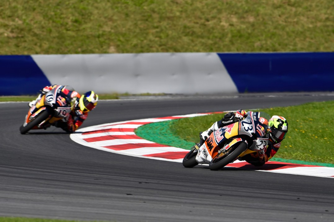 SPIELBERG,AUSTRIA,14.AUG.16 - MOTORSPORTS, MOTORBIKE - Red Bull Rookies Cup, Grand Prix of Austria, Red Bull Ring. Image shows Raul Fernandez (ESP). Photo: GEPA pictures/ Gold and Goose/ Gareth Harford - For editorial use only. Image is free of charge.