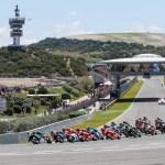 Rossi, Márquez y Viñales en GP Jerez