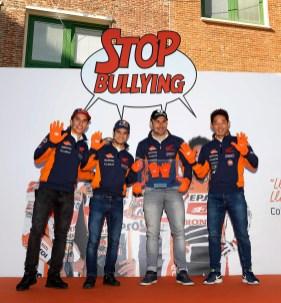 Visita pilotos REPSOL Colegio Sagrada Familia Marque, Pedrosa, Bou y Fujinami Madrid 16 de noviembre de 2017. MotoGP, MGP, mgp, motogp