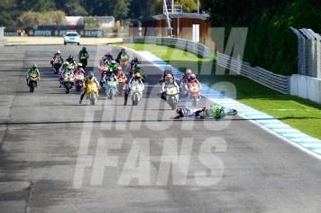 Salida Moto2, FIM CEV Repsol, #YD, @yiyodorta, teammotofans.com