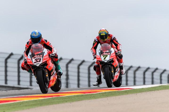 Marco Melandri, Chaz Davies, Aruba.it Racing, Circuito de Motorland Aragón