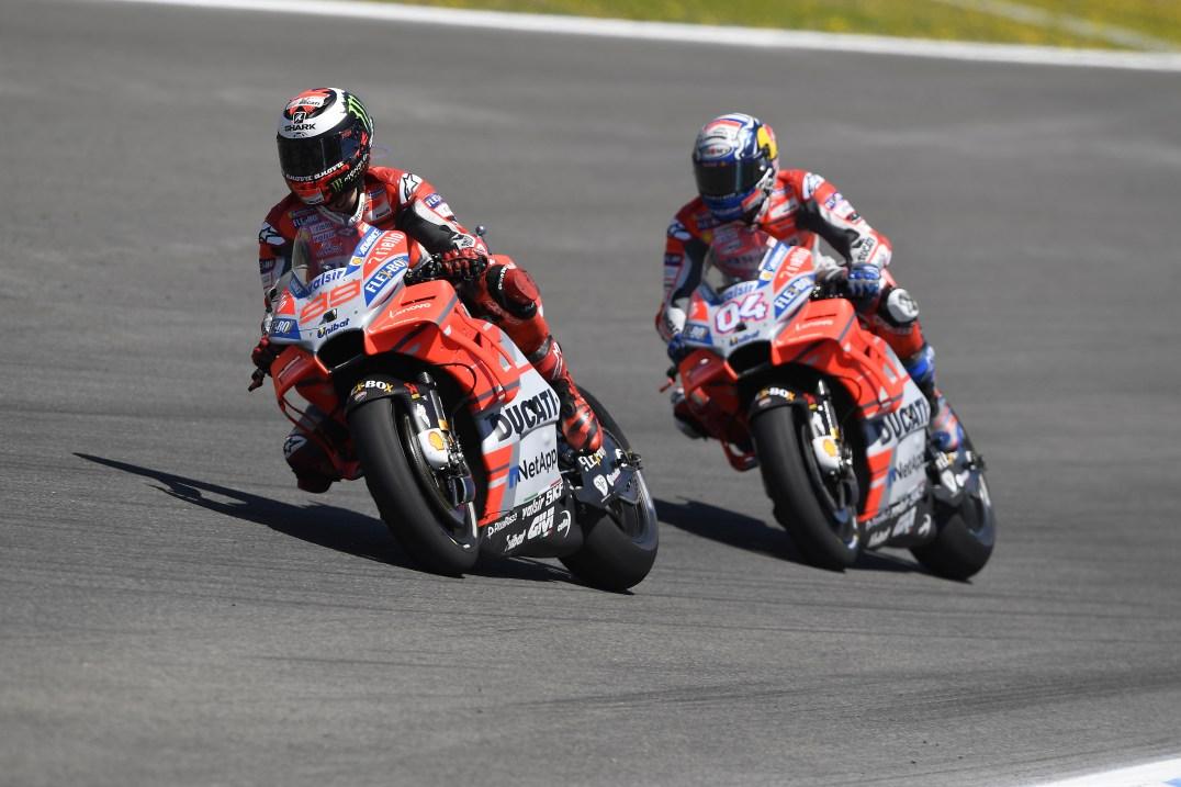 Andrea Divizioso, Jorge Lorenzo, Ducati Team