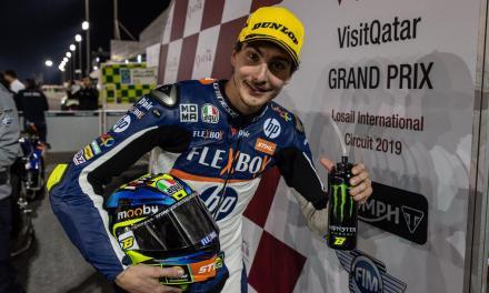 Bajo los focos de Qatar triunfo en Moto2 de Lorenzo Baldassarri