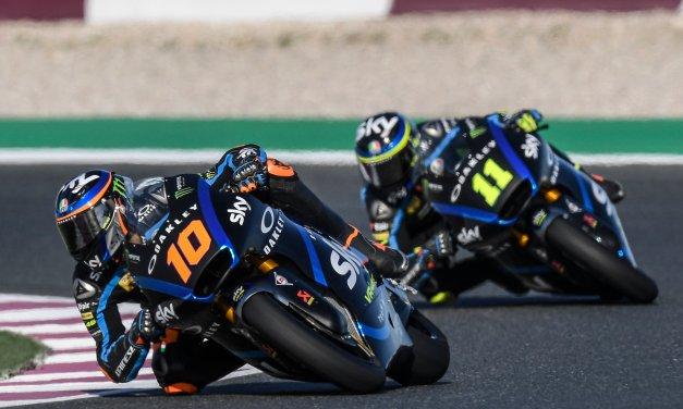El Sky Racing Team VR46 cierra la pretemporada de Moto2 y Moto3 en Losail