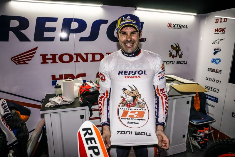Toni Bou, Trial Repsol Honda Team, Campeón del Mundo FIM de X-Trial