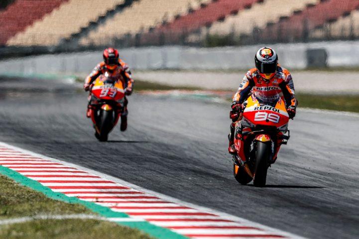 Jorge Lorenzo, Marc Márquez, Repsol Honda, Test post Montmeló
