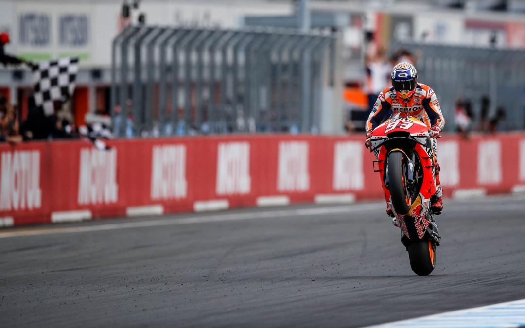 Marc Márquez gana en casa de Honda su décima carrera del año