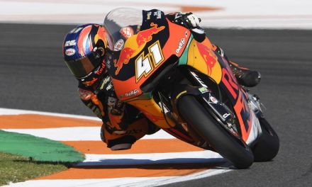 Traca de Moto2 en el Circuito Ricardo Tormo para Brad Binder