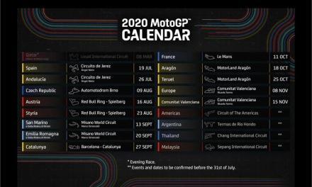 Calendario actualizado de MotoGP 2020