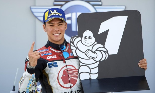 Primera pole para Nakagami en MotoGP, Lowes y Fernández repiten primera posición en Moto2 y Moto3