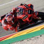 Bagnaia y Miller, primero y segundo para el Ducati Lenovo Team en la clasificación de Aragón