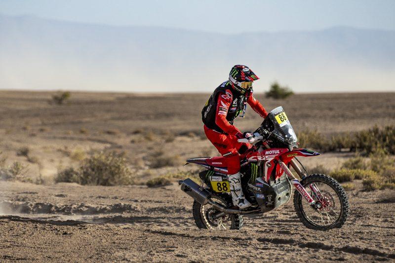 Triplete del Monster Energy Honda Team en la primera etapa del Rally de Marruecos