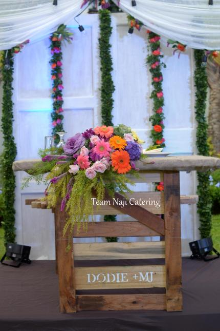 Custmomized wooden table and chair for the couple