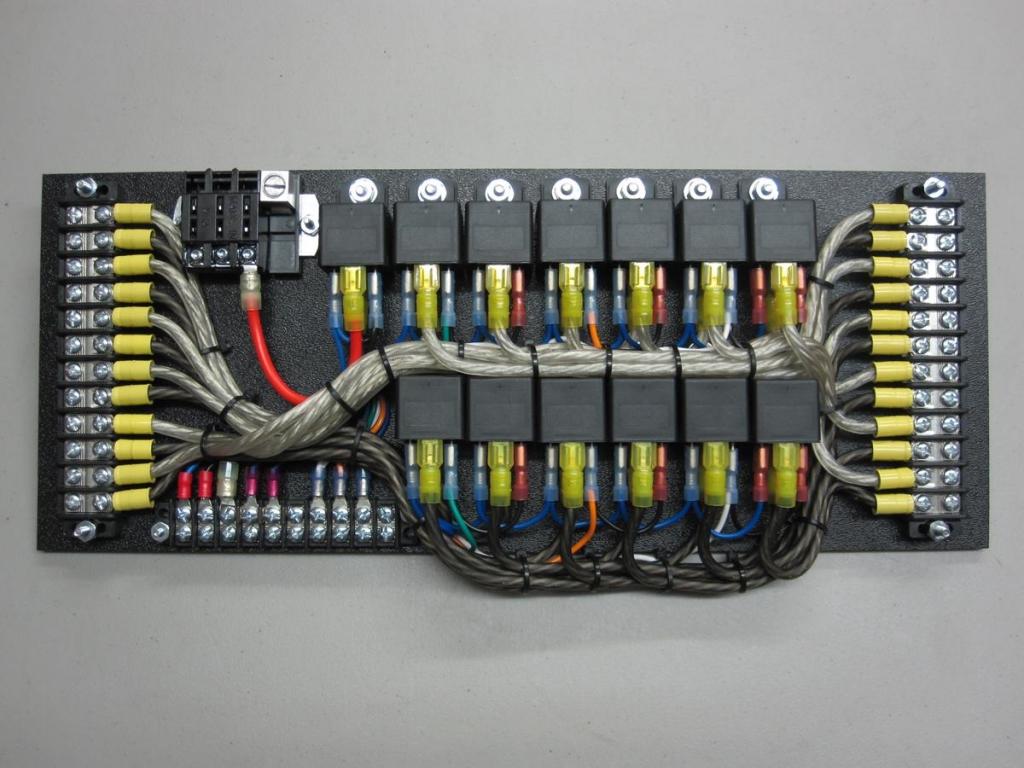 automotive fuse panels and relay blocks