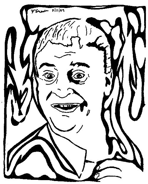 No respect Maze of Rodney Dangerfield Artwork replica portrait yonatan frimer