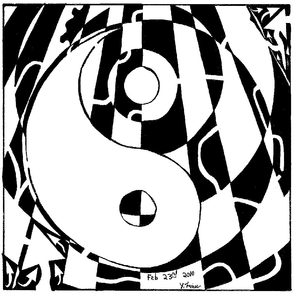 psychedelic ying yang maze