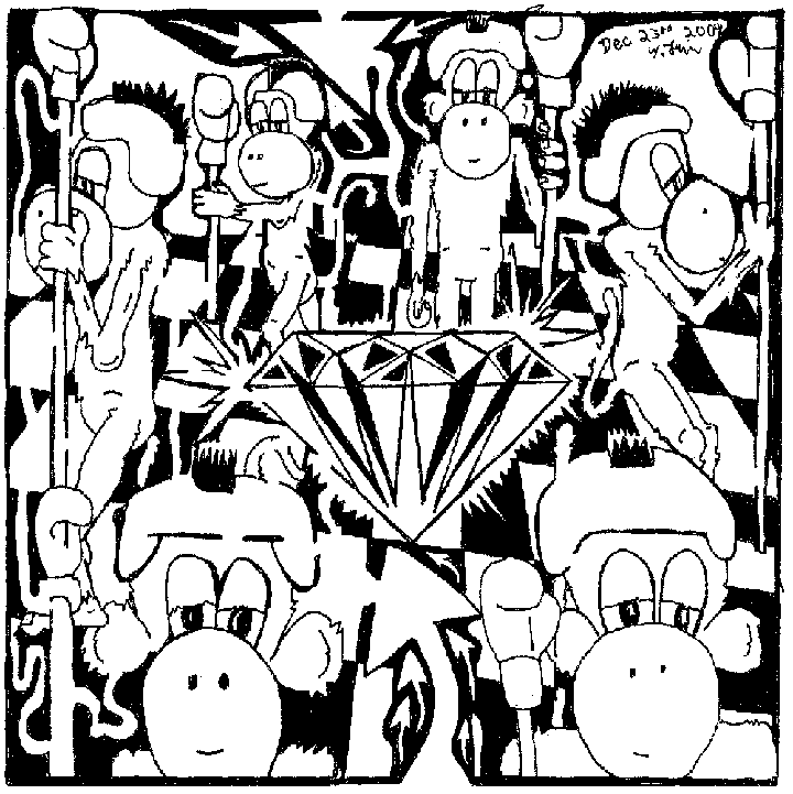 Maze of Team Of Monkeys guarding the crystal