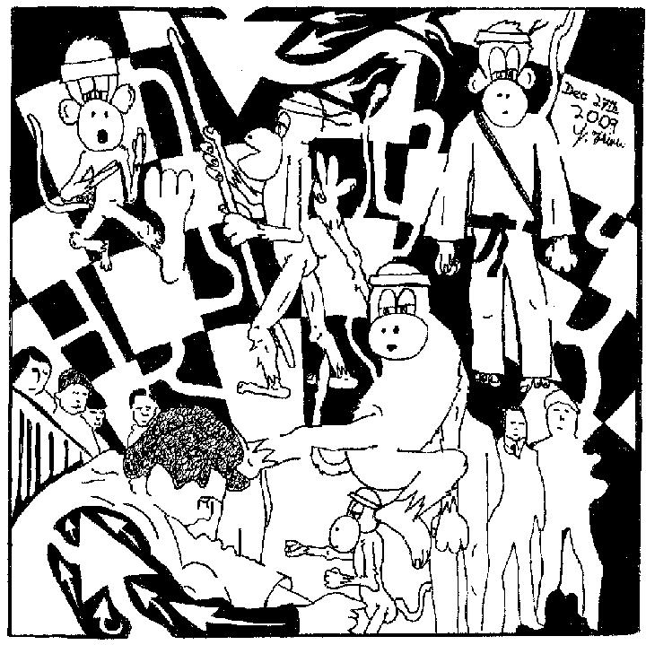 Maze of Team Of Monkeys kung fu fighting, rebels