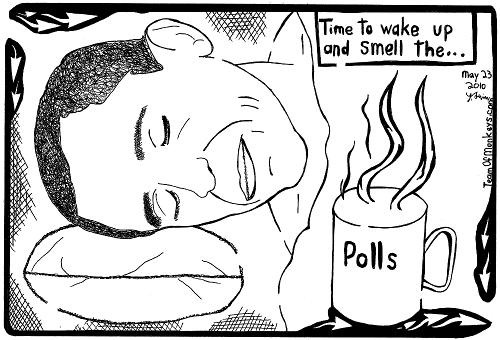 Obama President Polls Maze Cartoon