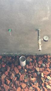 plumbing work pressure test for leakage