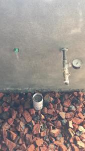 plumbing work pressure test for leakage