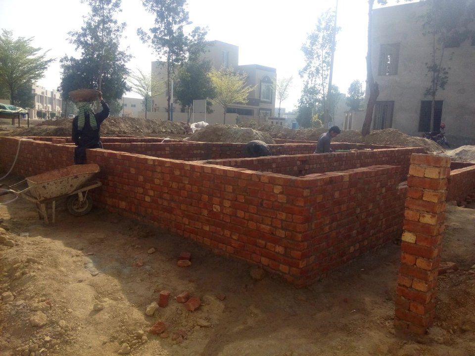 Bahria nasheman grey structure brick work