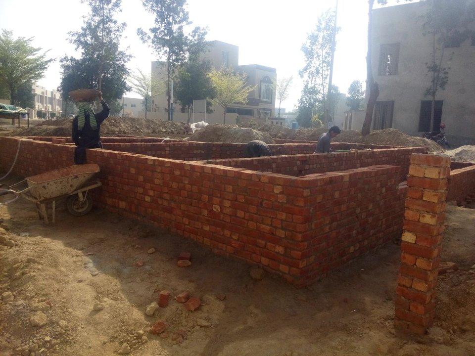Bahria nasheman grey structure brick work