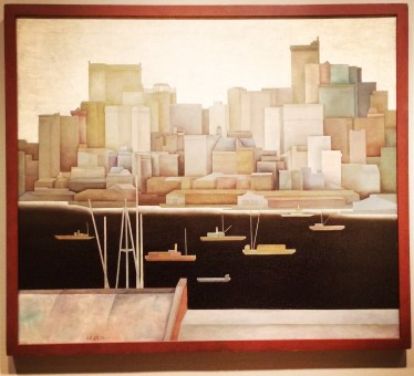 Stefan Hirsch, 1899- 1964. New York, Lower Manhattan, 1921.