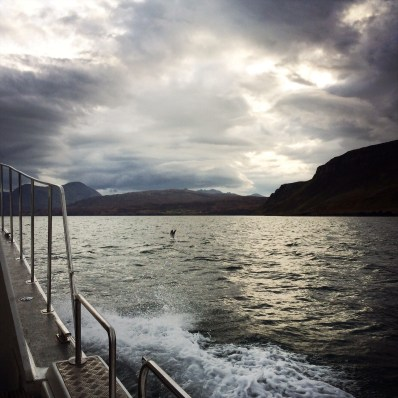 Boating on the Sound of Raasay