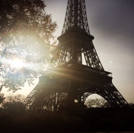 Eiffel Tower looking like a gorgeous cliche.