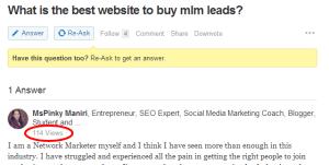 Quora Views MLM