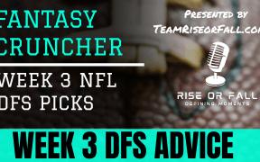 Week 3 NFL DFS Picks