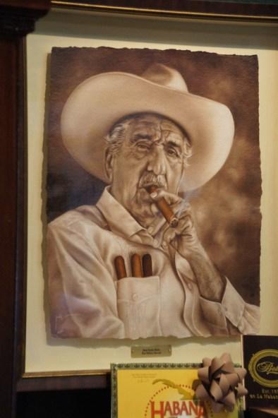 Im Zigarrenladen, Bild vom Chef
