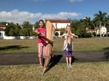 Die Kinder spielen Kontrabass und Fläte