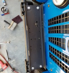 additionally i had to fabricate spacers using rectangle tubing to get the winch plate above the adjuster on the steering gear box and trim the bumper so it  [ 1200 x 1600 Pixel ]