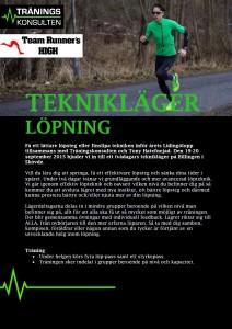 Reklam inbjudan teknikläger löpning 19-20 september 2015 sida 1