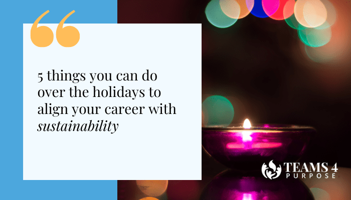 5 things you can do over the holidays to align your career with sustainability
