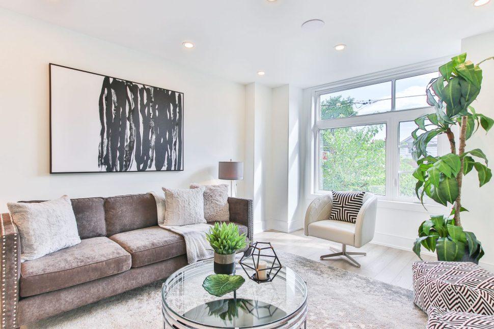brown fabric sofa set