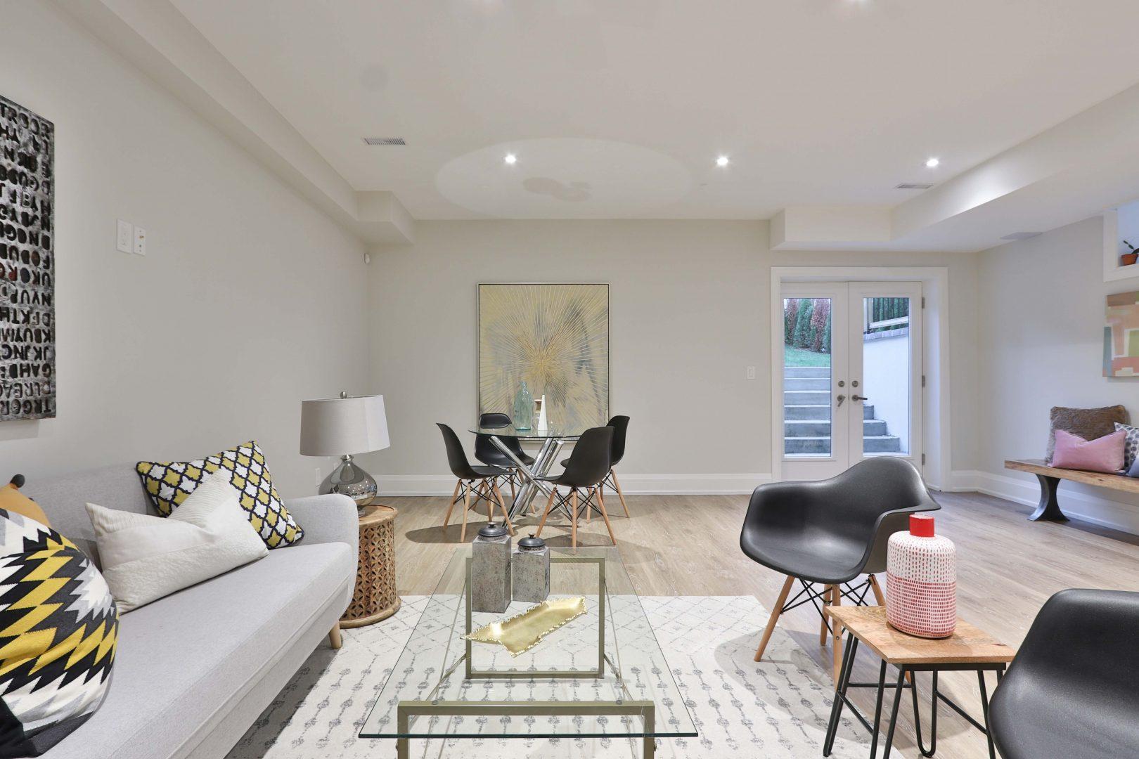 dining set and sofa set