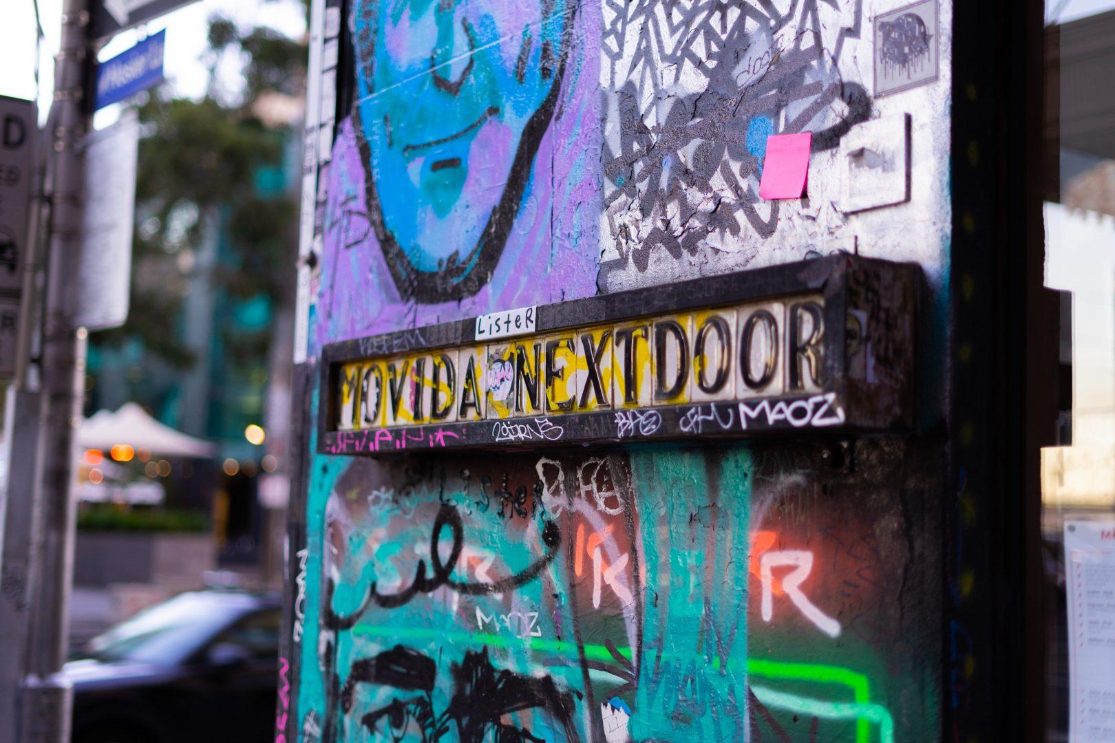Vida Next Door signage