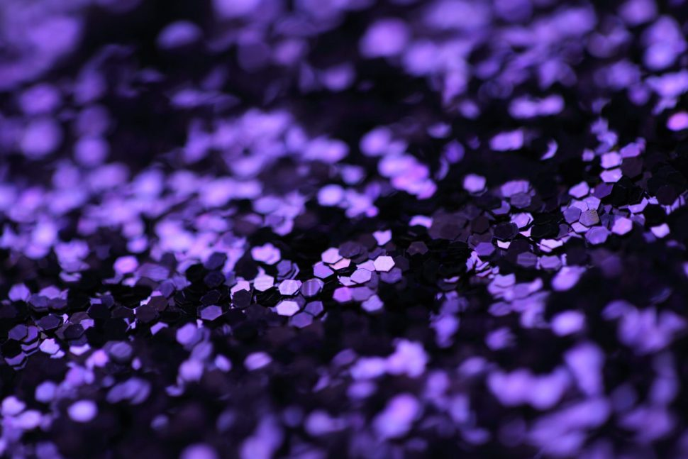 closeup photo of purple sequin lot