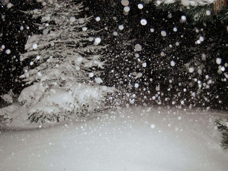 time lapse photo of snow