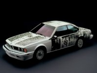 1986 BMW 635 CSi Art Car by Robert Rauschenberg