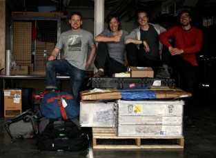 All of the drone equipment safely arrived at Aurora Research Institute calls for a Team photo