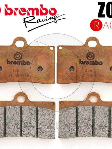 BREMBO KIT 4 PASTIGLIE FRENO ANTERIORI Z04 RACING YAMAHA MT-09 Tracker 2015