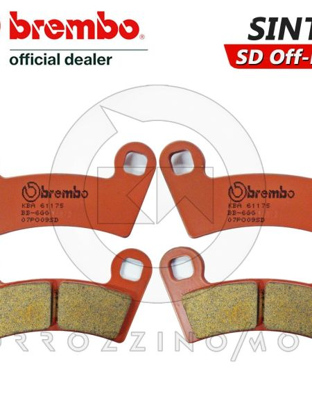 4 PASTIGLIE FRENO ANTERIORI BREMBO SINTER OFF-ROAD POLARIS OUTLAW S 450 2009